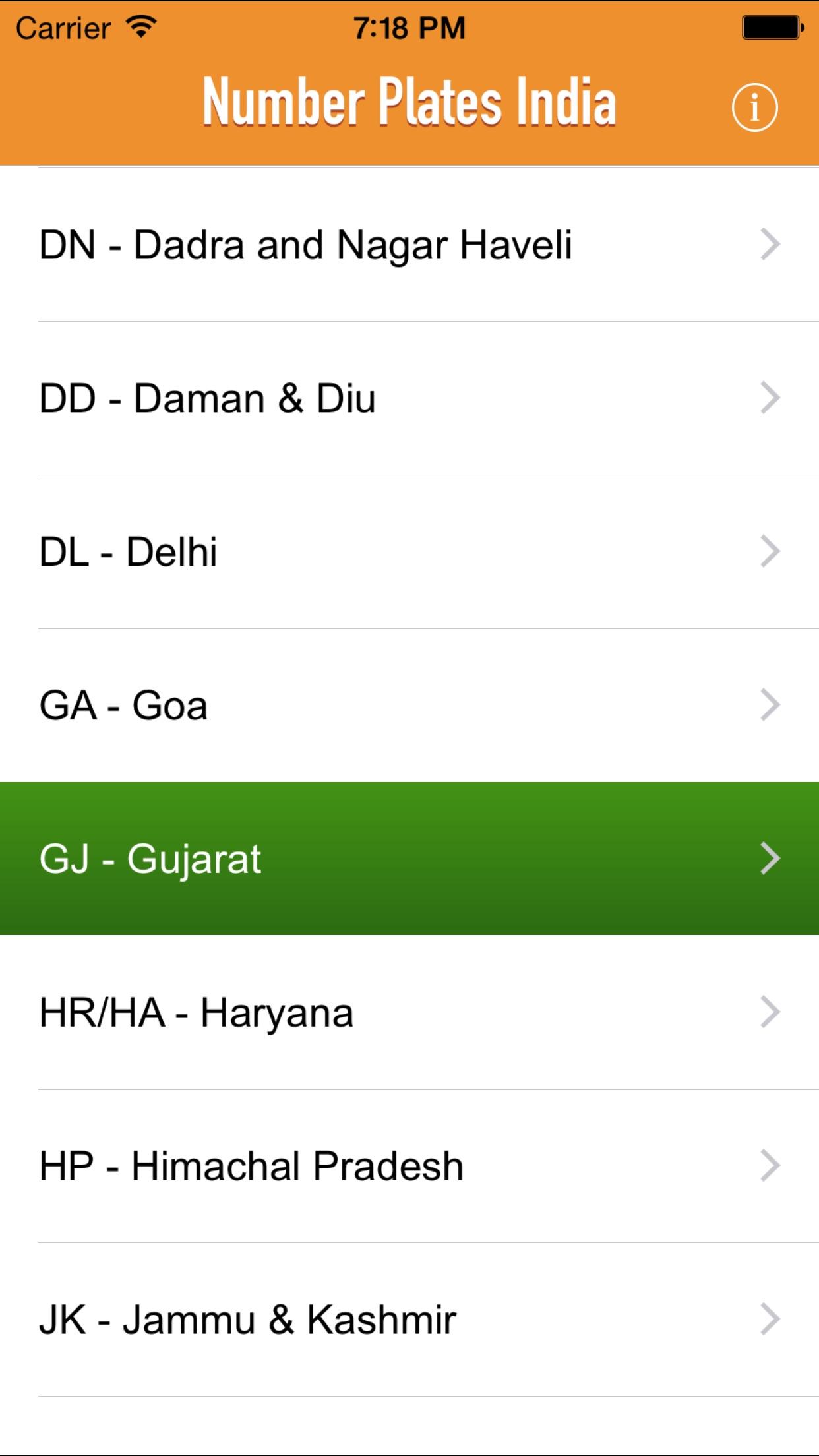 Number Plates India Screenshot