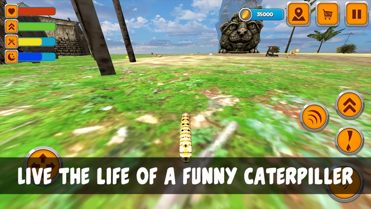 Caterpillar Insect Life Simulator by Juliia Blokhina