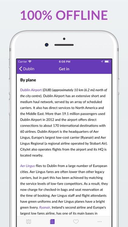 Dublin Offline Map & Guide screenshot-4