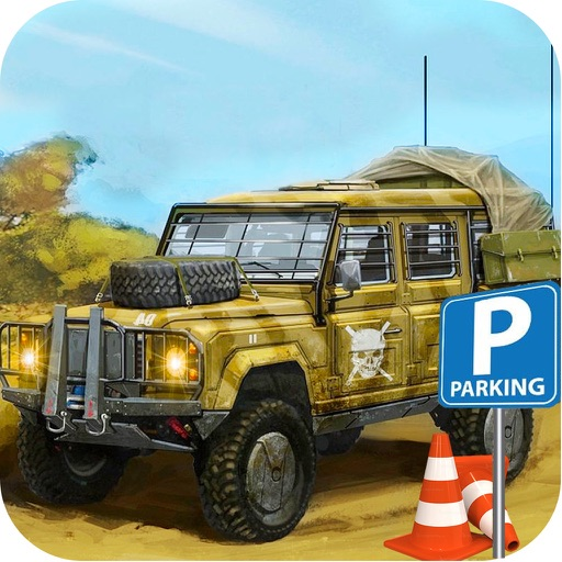 3D Military Jeep Parking Simulator Game
