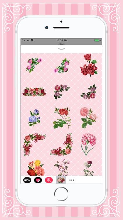 Lovely Bloom Flower Stickers screenshot-3