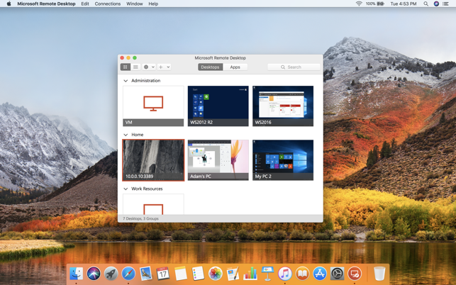 free remote desktop mac os x