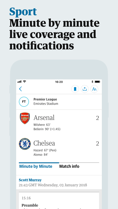 Screenshot 2 for The Guardian's iPhone app'