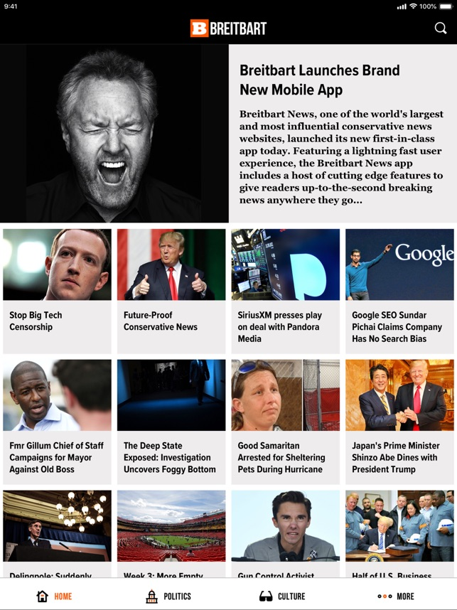 Breitbart on the App Store