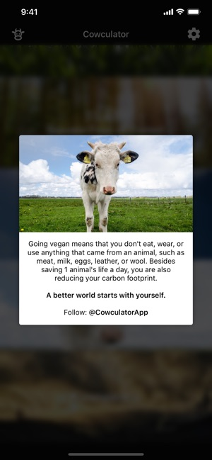 Cowculator - Friends, Not Food Screenshot