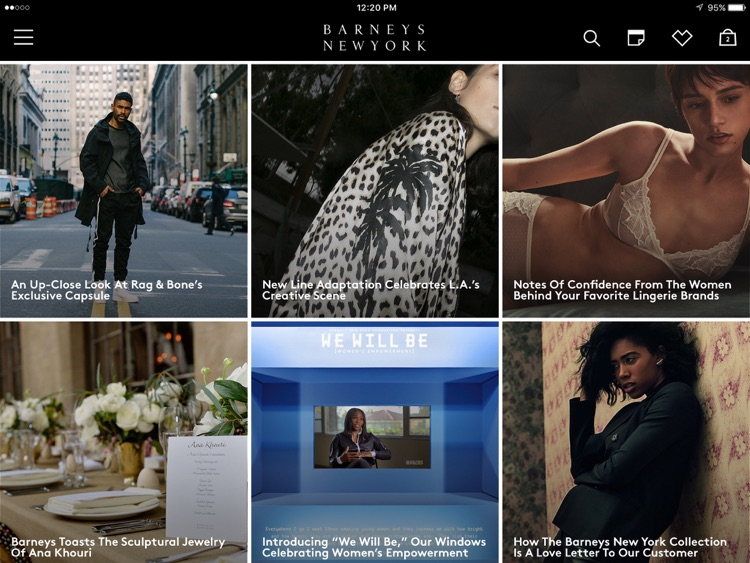 Barneys New York for iPad