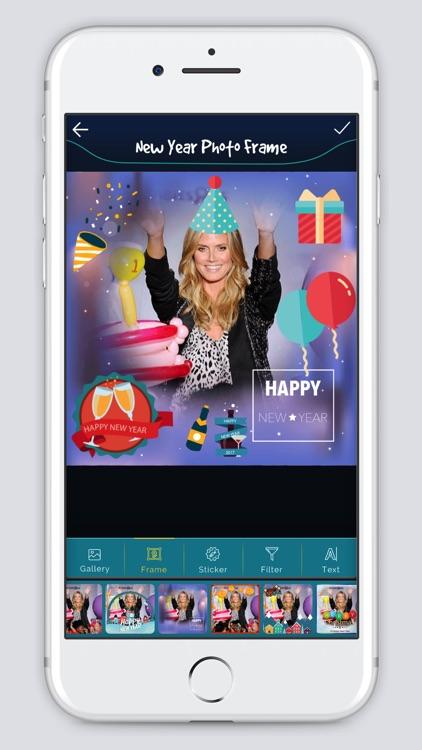 New Year photo Frame 2k18 screenshot-3