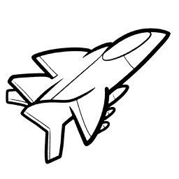 Missiles plane