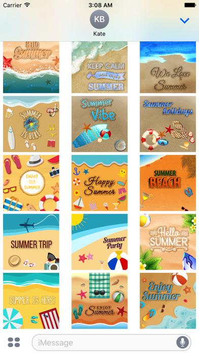 Summer Quotes & Message written on the Sand Screenshot