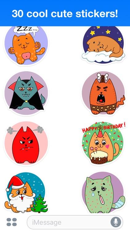 Funny cats - Cute stickers screenshot-4