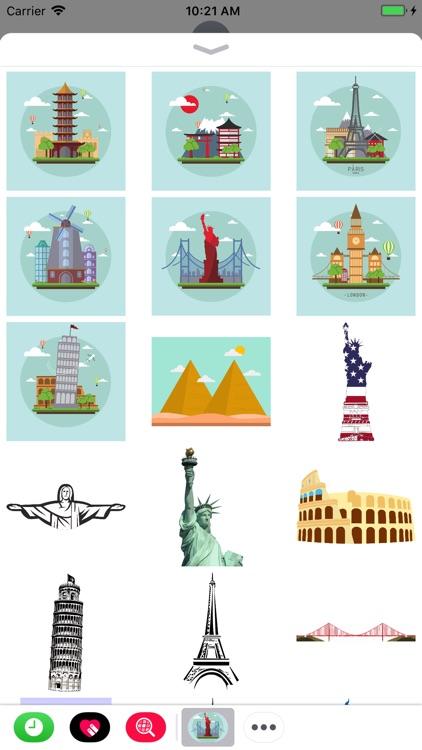 Famous Landmark Stickers