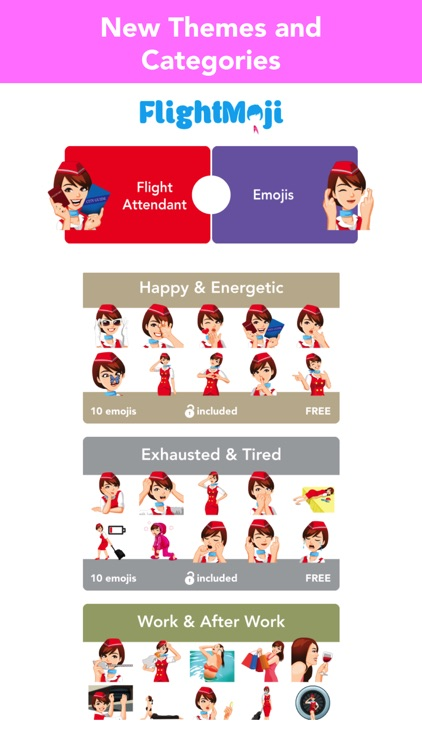 Flight Attendant Emoji Sticker screenshot-4