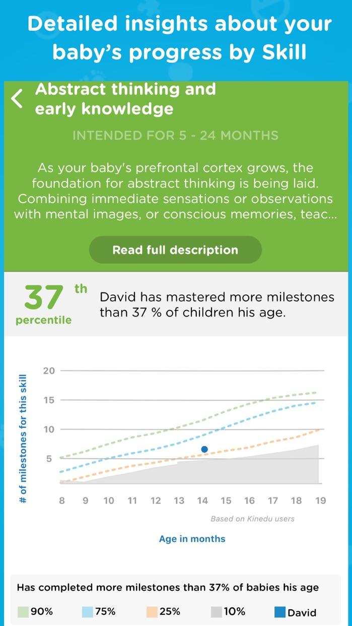 Kinedu - Baby Development App Screenshot