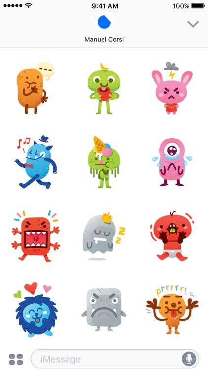 Cute Freak Monsters Emoji