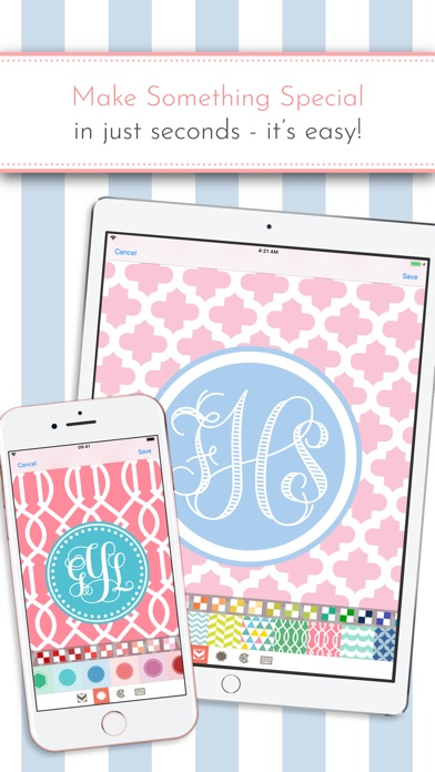 Monogram It! Lite Is A FREE, Fun Way To Make Custom Monogrammed Wallpapers  For Your IPhone Or IPad.