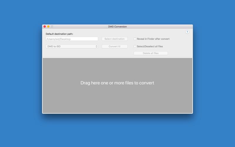 DMG Conversion Screenshots