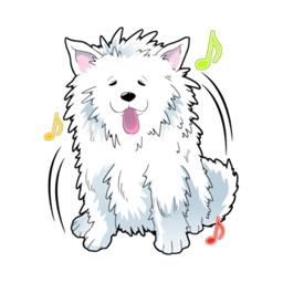Samoyed The Dog Stickers