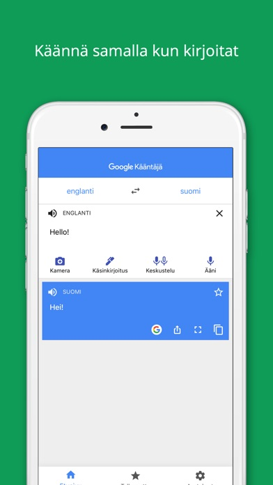 Screenshot for Google Kääntäjä in Finland App Store