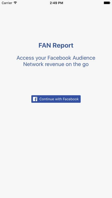 FAN Report - Revenue for Facebook Audience Network for Windows