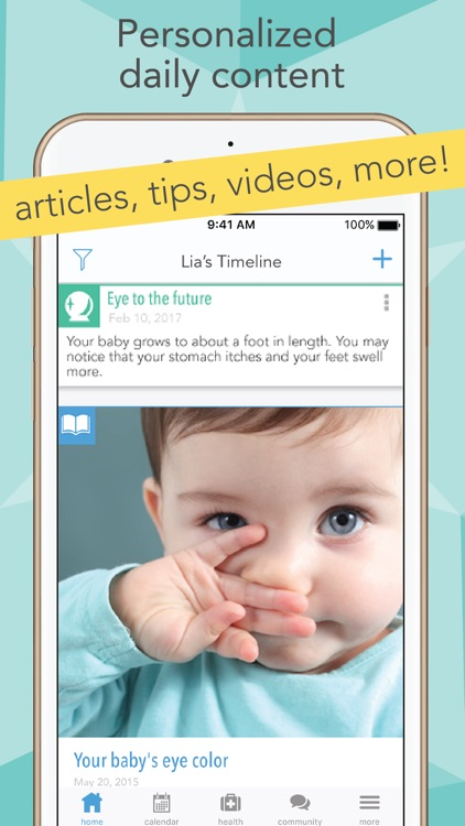 Ovia Pregnancy Tracker & Baby Calendar App