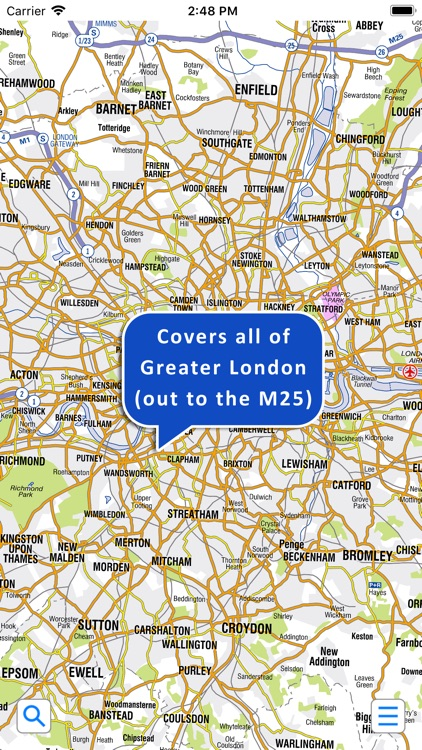 Az Street Map Of London.Greater London A Z Street Map By Visual It Ltd