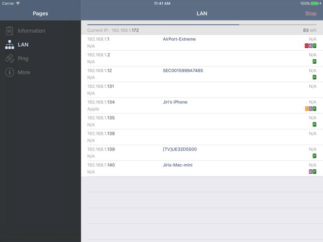Network Analyzer Lite Screenshot