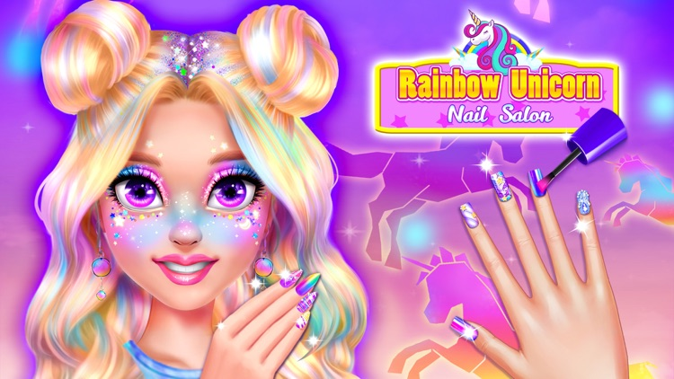 Rainbow Unicorn Nail Salon