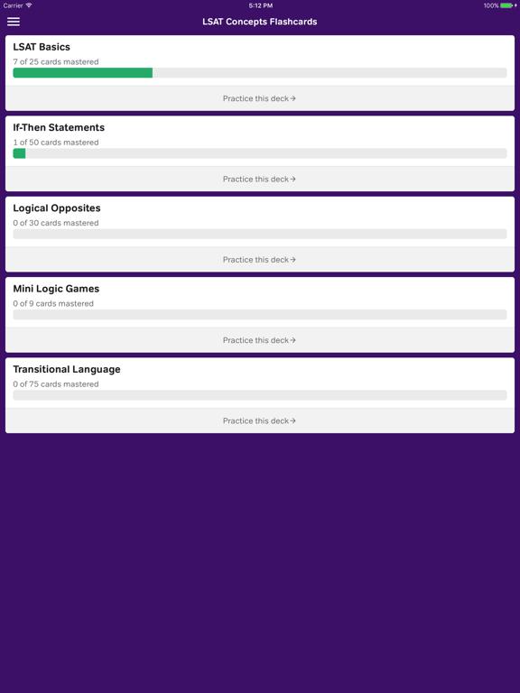 LSAT Logic Flashcards | App Price Drops