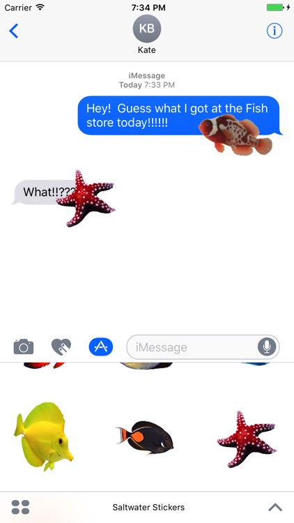 Saltwater Fish Stickers screenshot-3