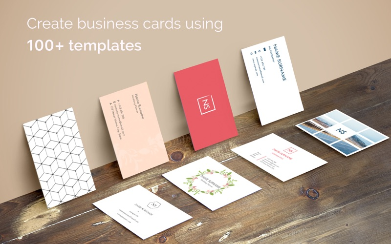 Business card maker 100 templates for pages app price drops screenshot 1 for business card maker 100 templates for pages colourmoves