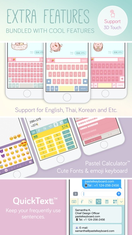Pastel Keyboard Themes Color screenshot-3