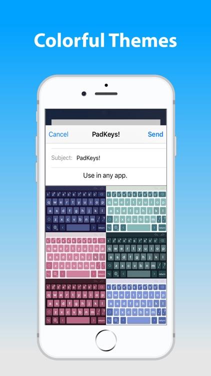 PadKeys - Number Row Keyboard screenshot-4