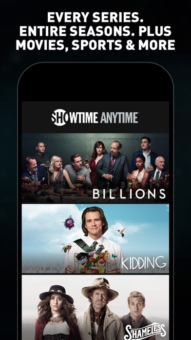 Showtime Anytime review screenshots