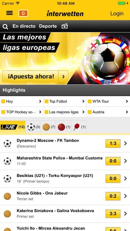 Interwetten Apuestas Deportes screenshot-0