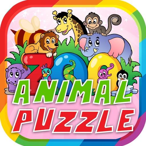Vocabulary Zoo Animal Puzzle