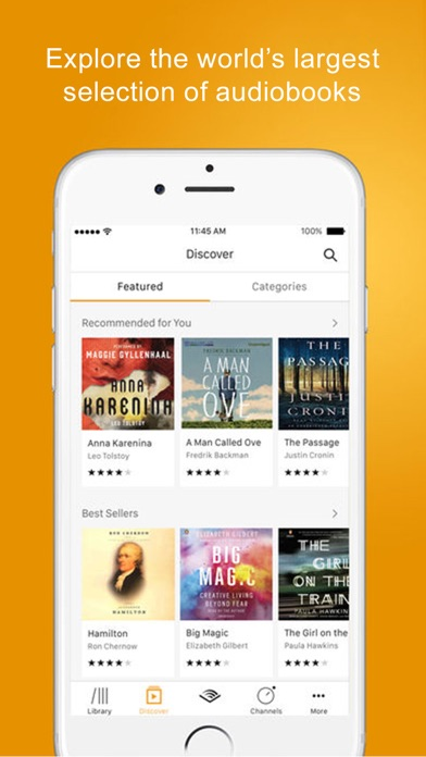 Screenshot 0 for Audible's iPhone app'