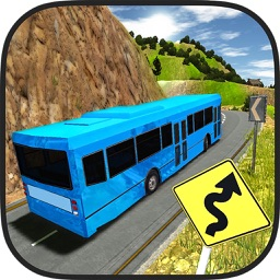 New Off-Road Coach Bus Driving