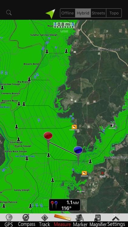 Toledo Bend GPS Nautical Chart