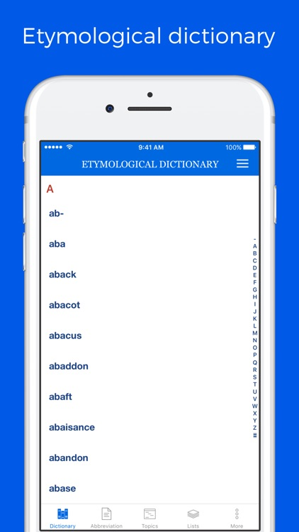 Etymological Dictionary