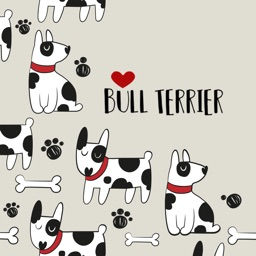 Bull Terrier Puppies Stickers