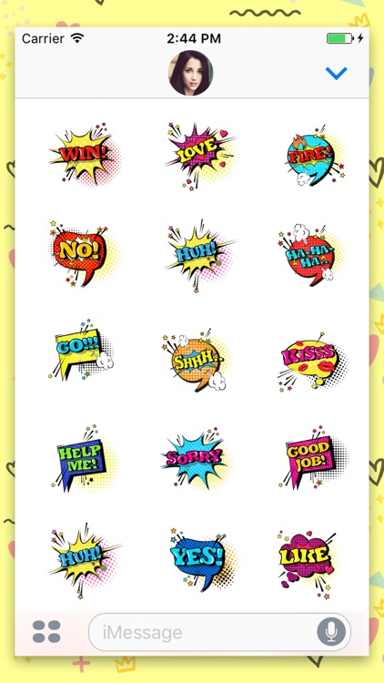 Comic Speech Animated Stickers