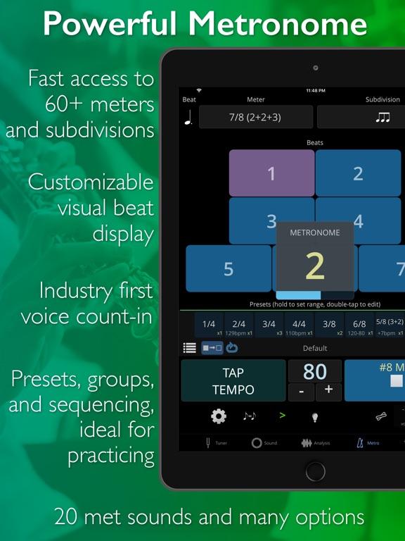 Screenshot #5 for TonalEnergy Tuner & Metronome