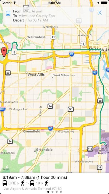 Transit Tracker - Milwaukee screenshot-3