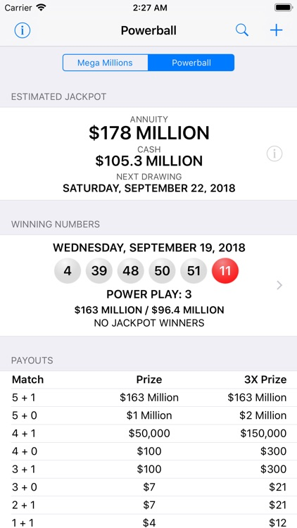 Mega Millions & Powerball screenshot-1