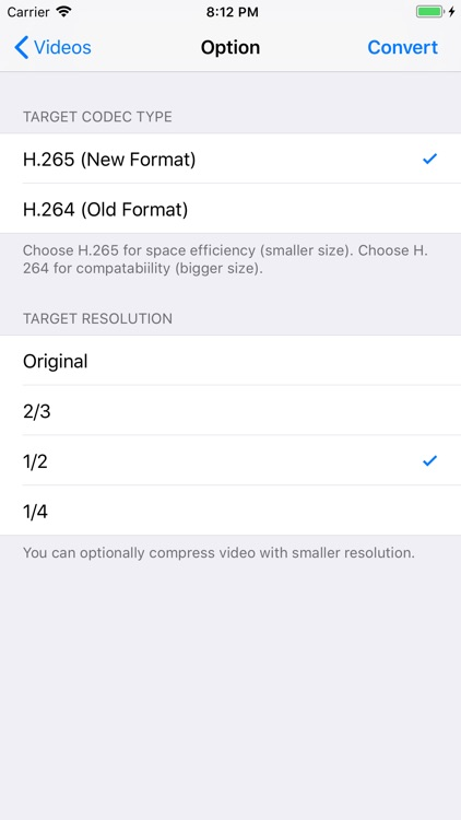 H.265 : H.264 Cross Converter
