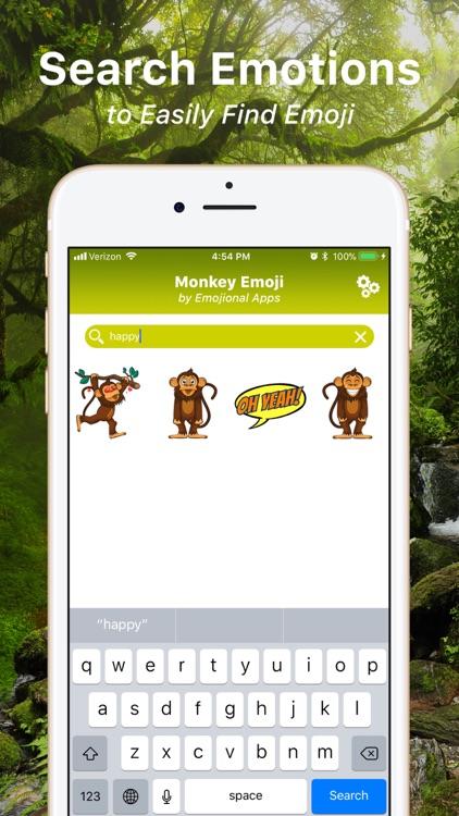 Monkey Emoji Texting Stickers screenshot-3