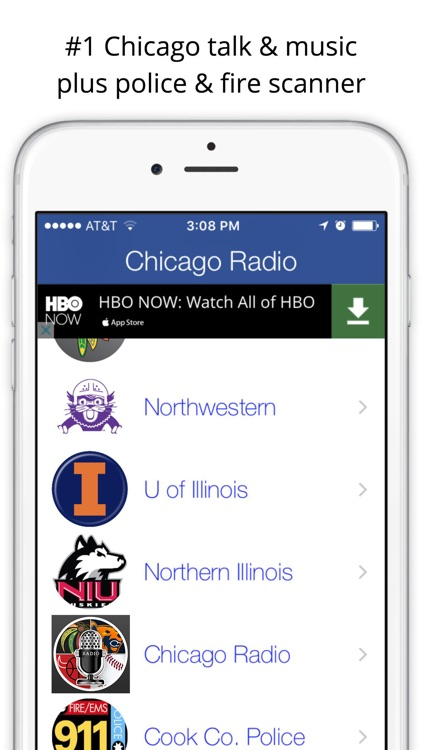 Chicago GameDay Radio for Bears Cubs White Sox screenshot-2