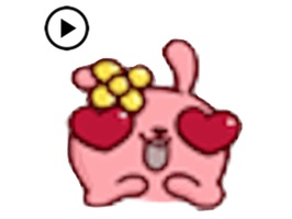 Animated Pink Rabbit Emoji