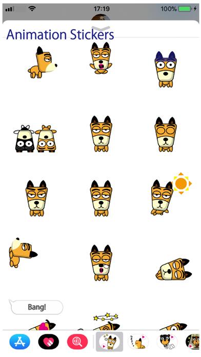 TF-Dog Animation 3 Stickers Screenshot
