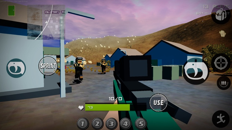 Pixel Battle Royale Ground Gun screenshot-3